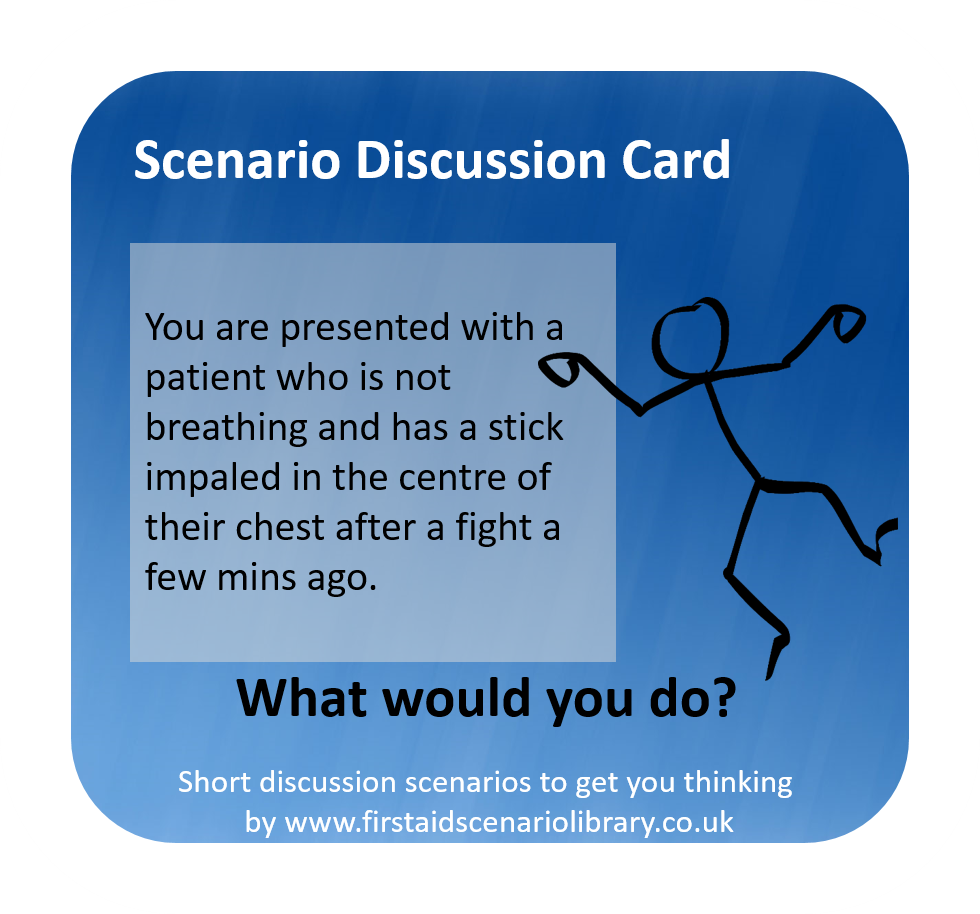 Difficult CPR first aid scenario card